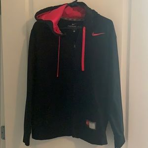 Nike THERMA-FIT- Blk zip up sweatshirt hoodie sz L
